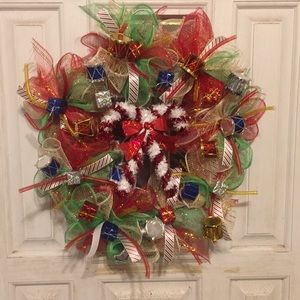 14 inch Christmas wreath ( handmade)